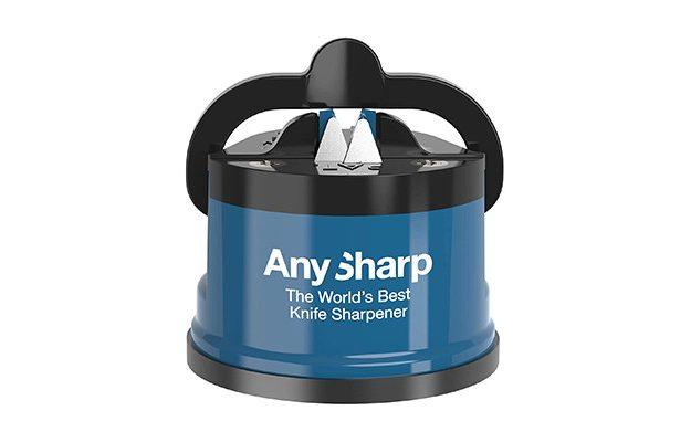 AnySharp - Blue Knife Sharpener with PowerGrip