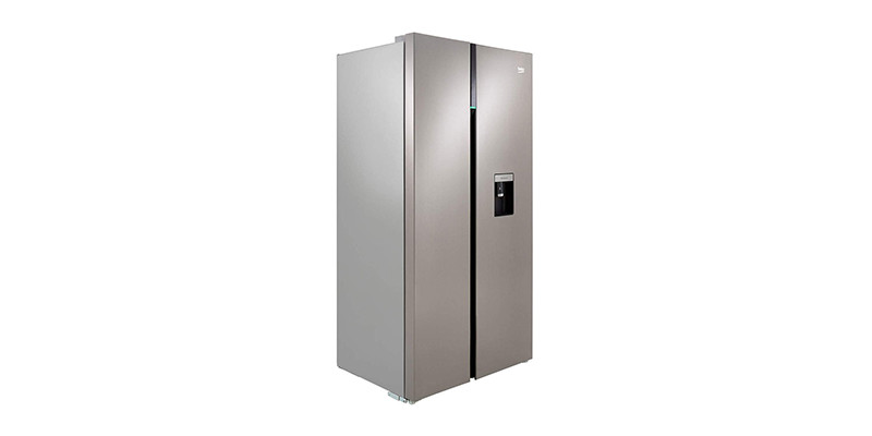Beko - ASGD242PX Brushed Steel American Fridge Freezer