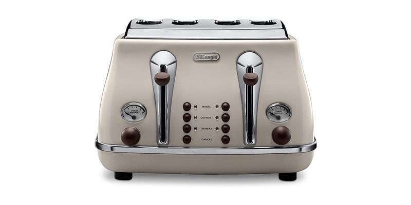 De'Longhi - Icona Vintage 4 slot toaster