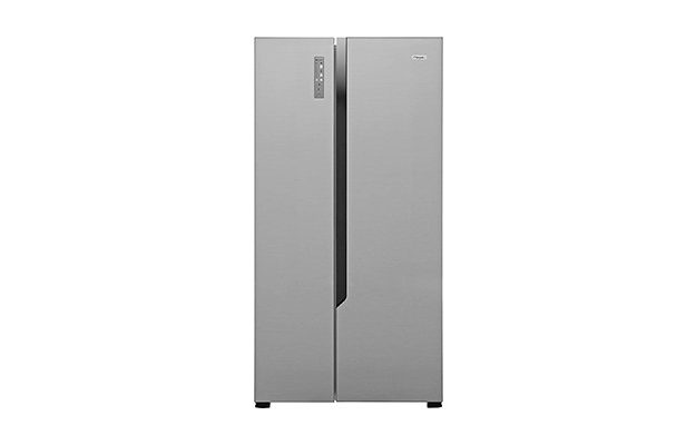Fridgemaster - MS91518FFS Silver American Fridge Freezer