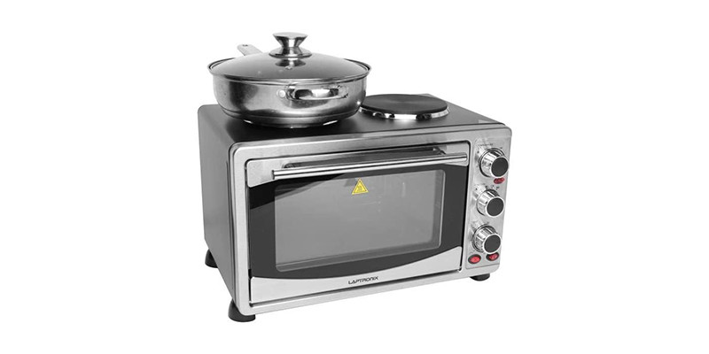 Laptronix - Mini Oven With Hob and Grill