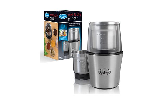 Quest - 34170 Stainless Steel Electric Wet and Dry Grinder