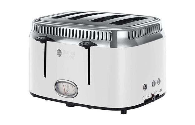 Russell Hobbs - Stainless Steel 21694 Retro 4 Slice Toaster