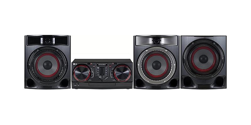 LG - Black LOUDR CJ45 Hi-Fi System