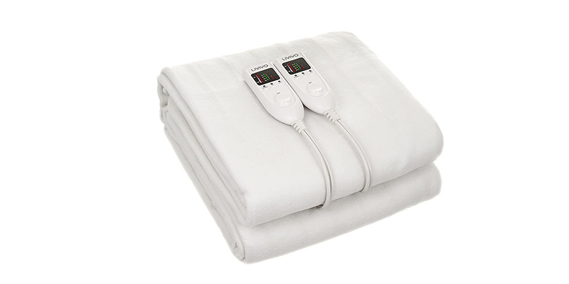LIVIVO - Deluxe Electric Under Blanket with Dual LED Controller