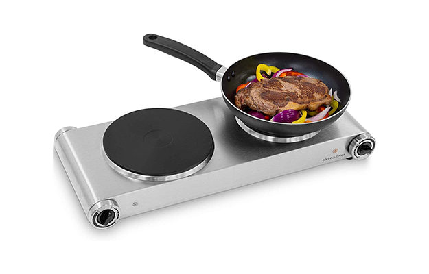 Andrew James Double Hob Portable Electric Hot Plate