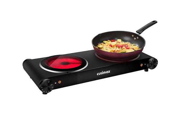CUSIMAX Double Camping Electric Hob