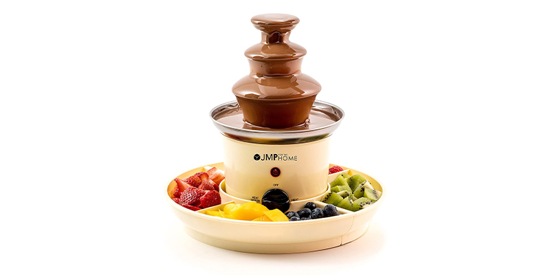 JMP The Home Chocolate Fountain with Serving Trays