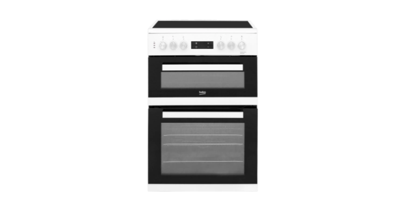 Beko KDC653W 60cm Electric Cooker with Ceramic Hob