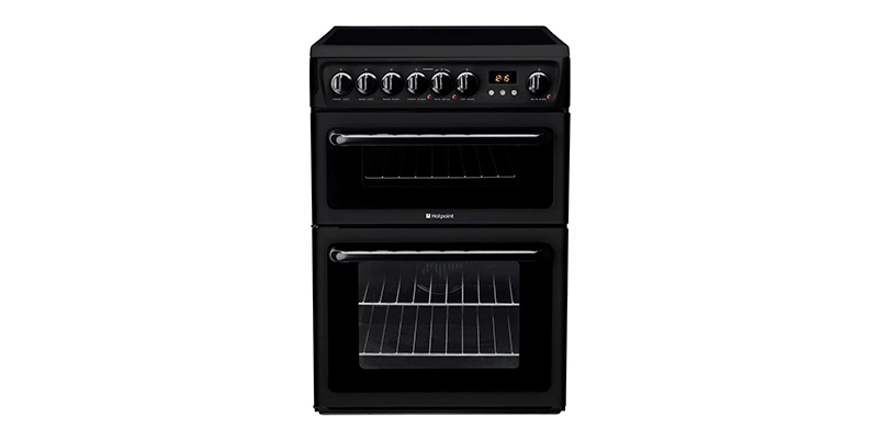 Hotpoint HAE60KS 60cm Double Oven Electric Cooker