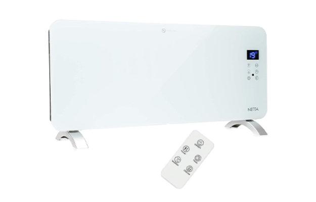 Netta Electric 2000W Slimline Glass Panel Heater Radiator