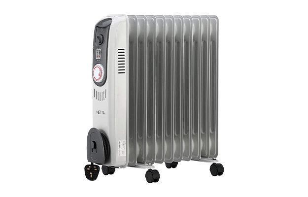 Netta Oil Filled Radiator 2500W Portable Electric Heater