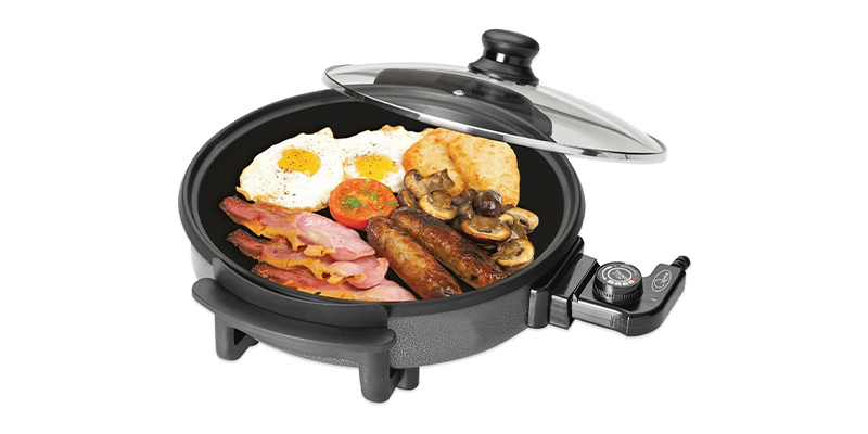 Quest 35500 Multi-Function Electric Frying Pan with Lid
