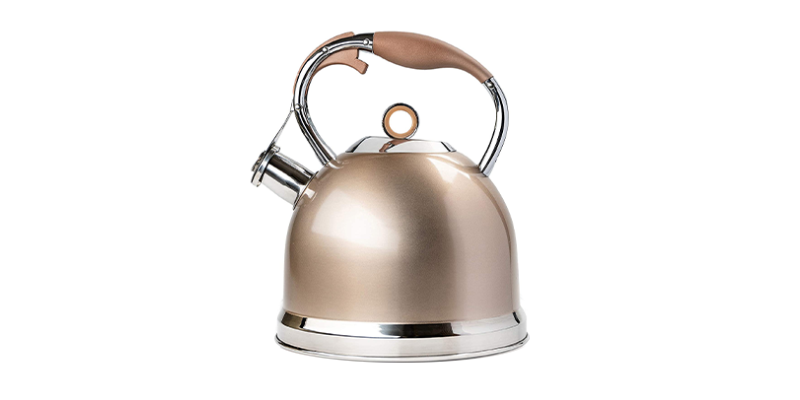 Susteas Induction Modern Stainless Steel Surgical Whistling Teapot