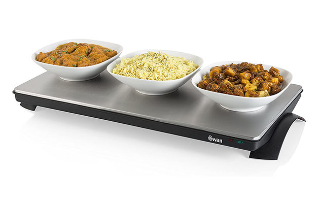Swan - SW12SS XL Cordless Buffet Server and Food Warming Tray Hot Plate