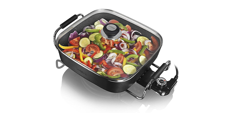 Tower Sauté Ceramic Electric Frying Pan