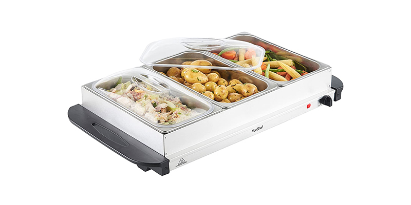 VonShef - 3 Tray Food Warmer Buffet Server