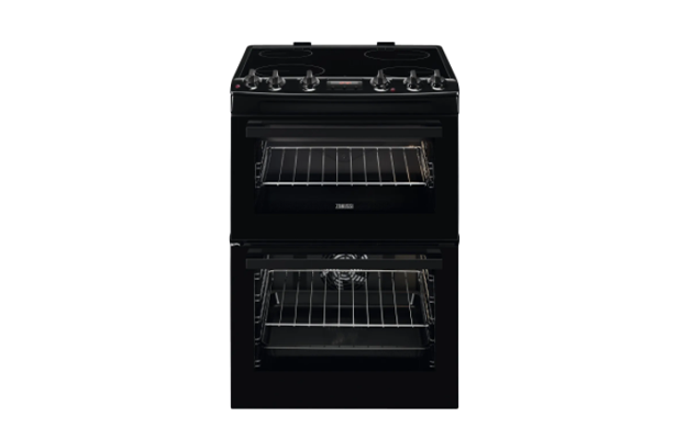 Zanussi ZCV66250BA 60cm Electric Cooker with Ceramic Hob