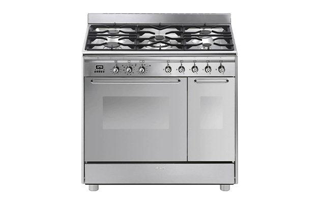 Smeg CG92PX9 90cm Dual Fuel Cooker
