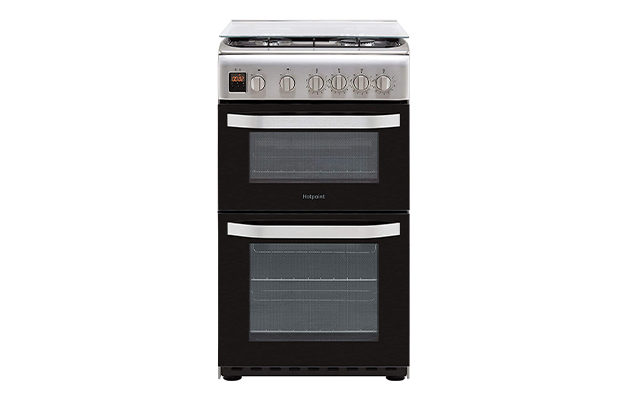 Hotpoint Cloe HD5G00CCX 50cm Gas Cooker with Full Width Gas Grill